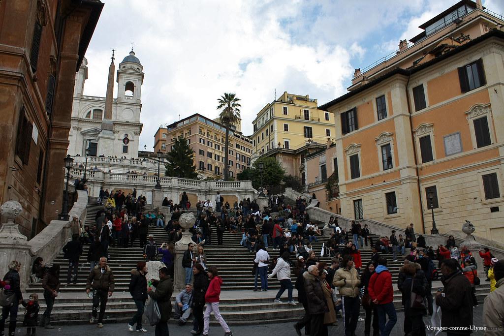 Marches de l'escalier monumental de la Place
