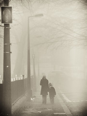 The Way Home (Feldore) Tags: street ireland mist fog walking child walk mother foggy belfast northern mchugh feldore
