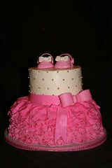 "Tutu cake with mary janes • <a style=""font-size:0.8em;"" href=""http://www.flickr.com/photos/60584691@N02/5603707058/"" target=""_blank"">View on Flickr</a>"