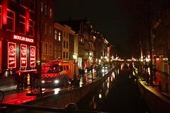 Amsterdam Red Light District (zevzevzevzev) Tags: holland water netherlands amsterdam night lights shot nightshot sexshop prostitute prostitution reflect nightlife prostitutes redlightdistrict glisten