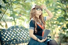 Yesa (CY Pixels) Tags: portrait nikon uniform fx 70200 cy melaka japaneseschoolgirl yesa vrii d700 tamanseribubunga afsnikkor70200mmf28gedvrii cypixels
