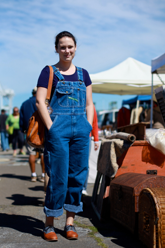overalls2 - alameda flea market street fashion style