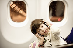Family: Little Airplane DJ (.Gianluca) Tags: family music playing colors canon airplane living child daughter listening lufthansa 5dmarkii frankfurtshanghai