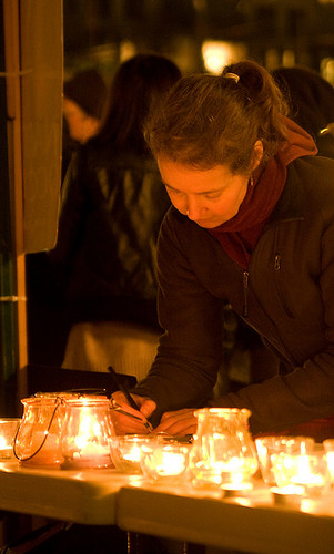 Petition table & Evening Vigil