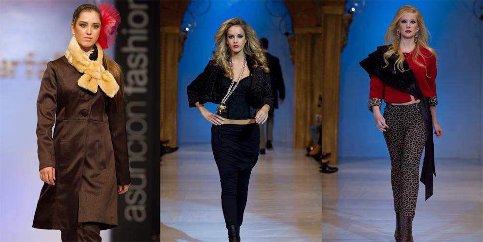 Modelos destacan las mejores prendas de las marcas que desfilaban en la pasarela. (Tetsu Espósito - Asunción, Paraguay)