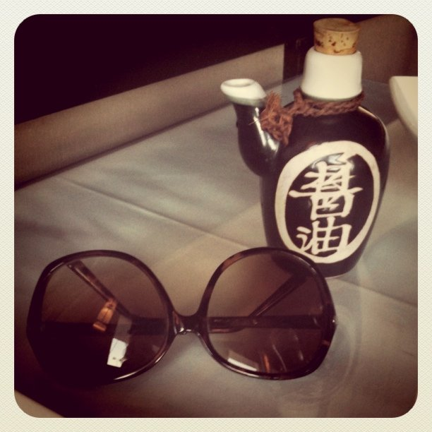 Sunglasses and soy sauce