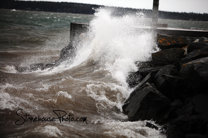 Lake Superior Waves at City Dock