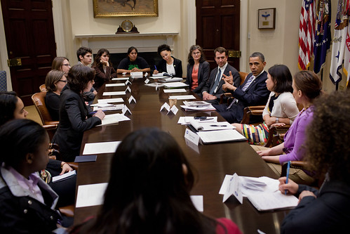 Youth Leaders from Power Shift Meet with President Obama