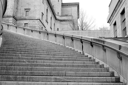 Just a flight of stairs at St John's Oratory
