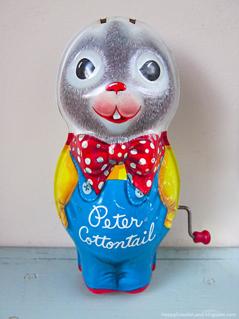 Peter Cottontail Vintage Wind-Up Toy