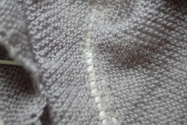 grey garter stitch