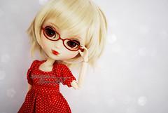 Audrey - Pullip Stica (-Poison Girl-) Tags: new blue red white girl hair glasses eyes doll long dolls eyelashes body pale audrey wig short blonde groove pullip brunette straight poison custom ver