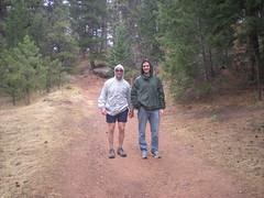 Dan & Dennis Hiking in Chataqua Park