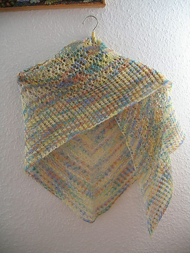 Romulan Cloak Shawl knit by fifili67 on ravelry