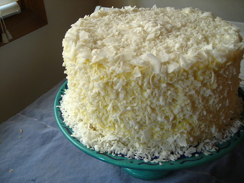 southern (manhattan) coconut cake with silk meringue buttercream