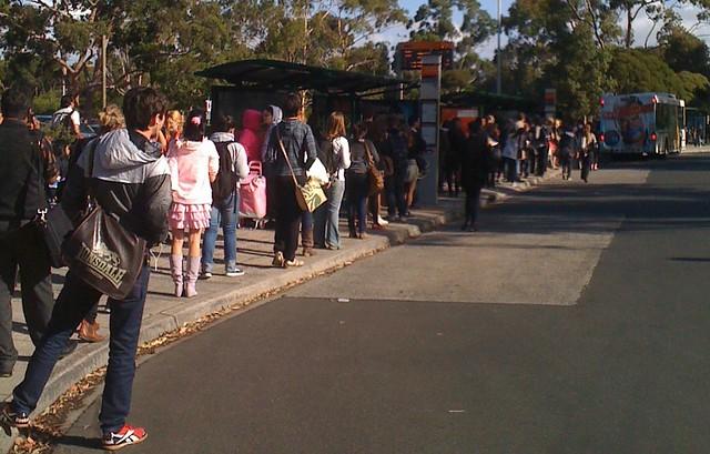 POTD 1: Monash Uni bus queue