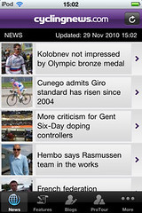 Cyclingnews.com iPhone app - not shabby!