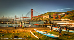 Morning Kayakers (Silent G Photography) Tags: sanfrancisco california ca sailboat kayak marin goldengatebridge bayarea sausalito hdr highdynamicrange lightroom photomatix highdynamicrangephotography nikond7000 oneonesoftware nikkor1635mmf4 markgvazdinskas silentgphotography