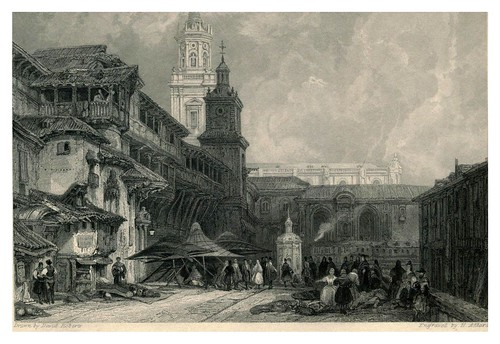003-Plaza Mayor de Vitoria- The tourist in Spain (1837)-Roberts David