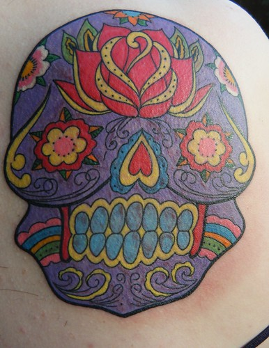 day of the dead girl tattoo meaning. mexican day of the dead skull