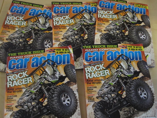 Axial Wraith on the cover of RC Car Action Magazine Cover Date: June 2011