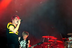 Gerard and Mikey Way (Christina Jakubek) Tags: world show new york city nyc way concert tour bass 5 w gig mikey terminal romance singer gerard chemical contamination 10019 56th my lastfm:event=1743978