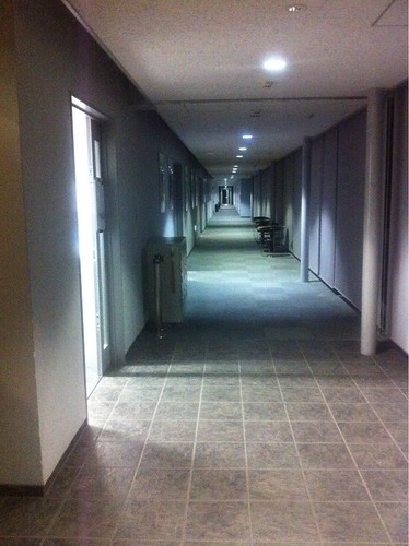 Corridor of Honjo Arts and Science center (Waseda University)