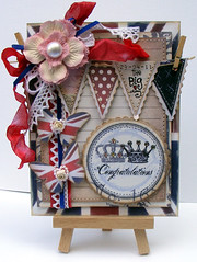 Royal Wedding Card (jo kill.) Tags: blue wedding red white butterfly jack handmade kate lace flag union royal william card crown ribbon congratulations peg greeting clothespin bunting seambinding