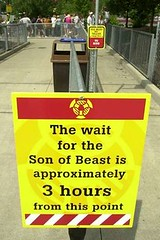 Son of Beast (masonbuzzflikr) Tags: wooden closed accident repair rollercoaster looping kingsisland sonofbeast lawsuit cedarfair