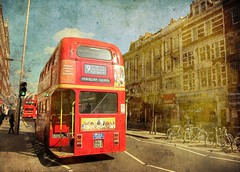 The Number 9  .the Classic Red Double Decker Bus .. London