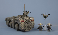 Iron Mountain Legion Prowler-D APC (Drone Base Station Version) 05 (Happy Weasel) Tags: lego helicopter modular vehicle bud fighting apc prowler drone apocalego