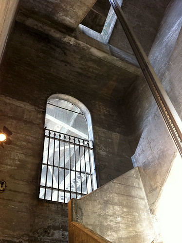 Secret Stairway under Burrard Bridge, window