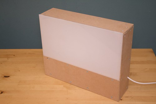 Complete box with plastic cover