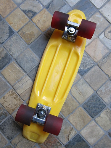 Vintage Plastic Deck And Trucks After Lots Of Polishing