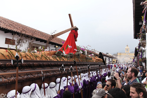 Enormous Float with Jesus bearing the cross