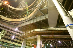 Tanimachi Junction - 18 (Kabacchi) Tags: night tokyo highway  nightview expressway  interchange      jct tanimachijunction ~tanimachijunction~