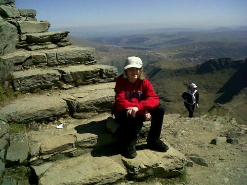 Pads at summit of Snowdon