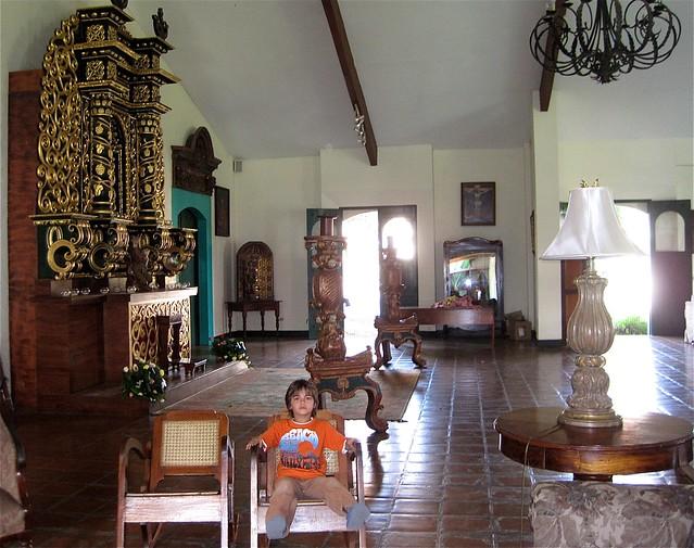luxury refurbished convento hotel leon nicaragua family friendly el convento lobby
