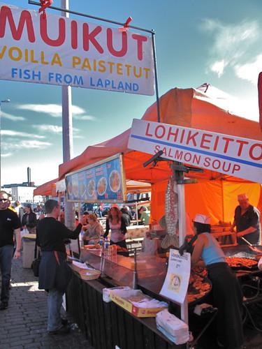 Market in Helsinki, Finland