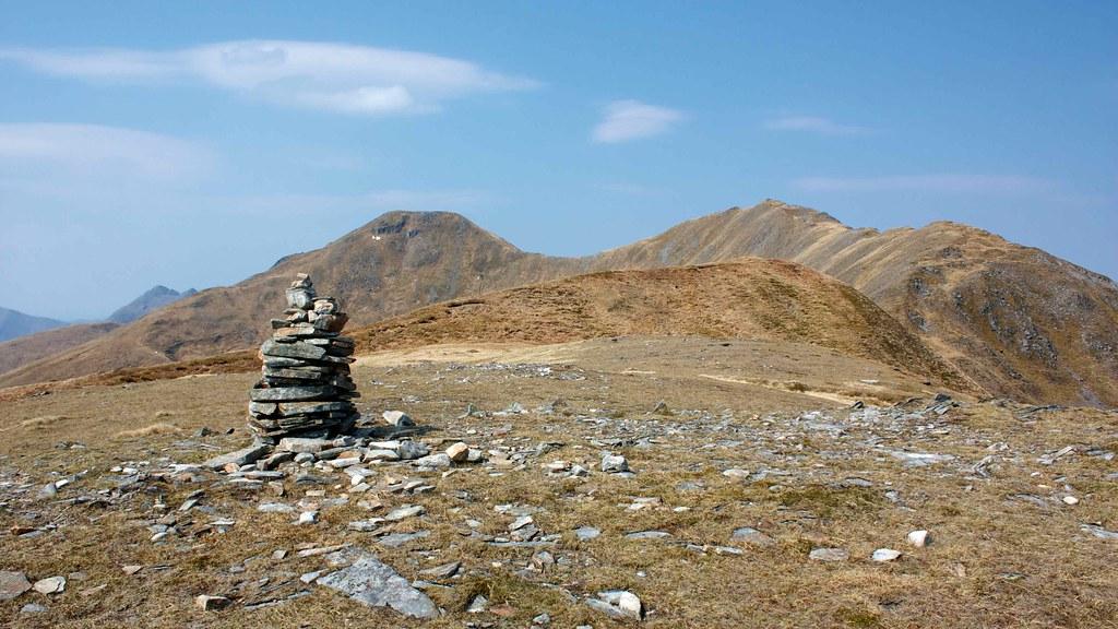 Aonach Meadhoin and Sgurr an Fhuarail from Pt 864