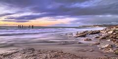 Seaside South Australia (Shannon Rogers Photography) Tags: ocean blue sunset sea panorama orange seascape beach sunrise canon sand tide australia cliffs tamron southaustralia hdr hdri hightide beachscape willunga portwillunga roacks hdrsky shannonrogers hdrsea canon7d mygearandme shannonrogersphotography seasidesouthaustralia