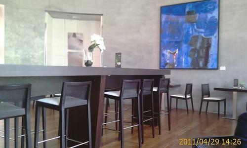 Interior de Cafe Q4 Lounge melia Bilbao by LaVisitaComunicacion