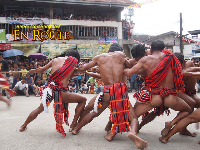Ifugao athleticism and test of strenght during the Guyudan