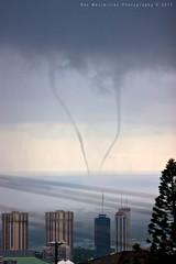 Honolulu Twisters! (Rex Maximilian) Tags: ocean weather hawaii oahu honolulu tornado waterspout funnelcloud highelevation naturewatcher