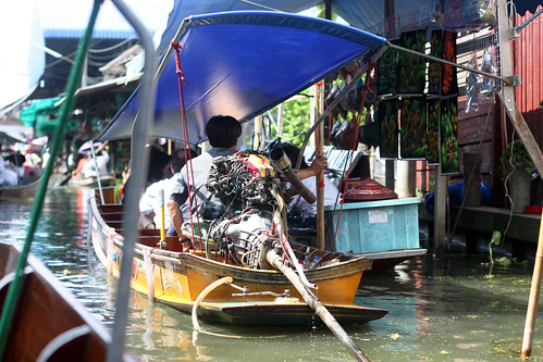 Floating market outside Bangkok