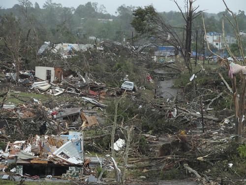 Tornado Path, Pratt City, Alabama