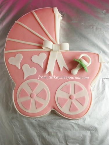 торт фото коляска
