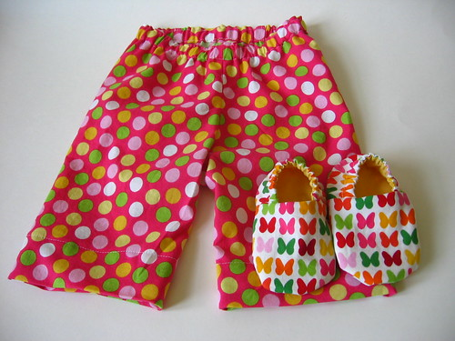 Fun Pink Baby Pants and Shoes