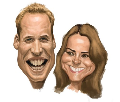Prince William and Kate Middleton digital caricature - 4