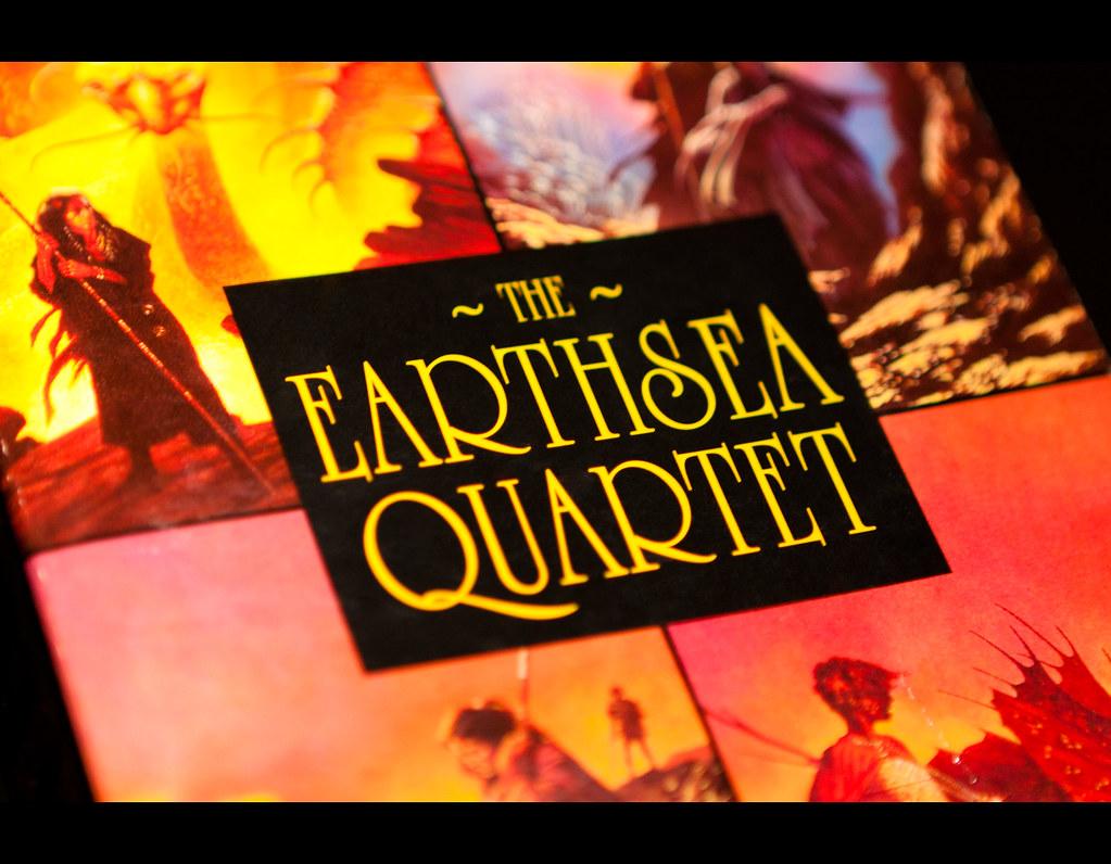 Project 365, on black, black background, book, earthsea quartet, earthsea, Canon EF 24-70 f2.8,